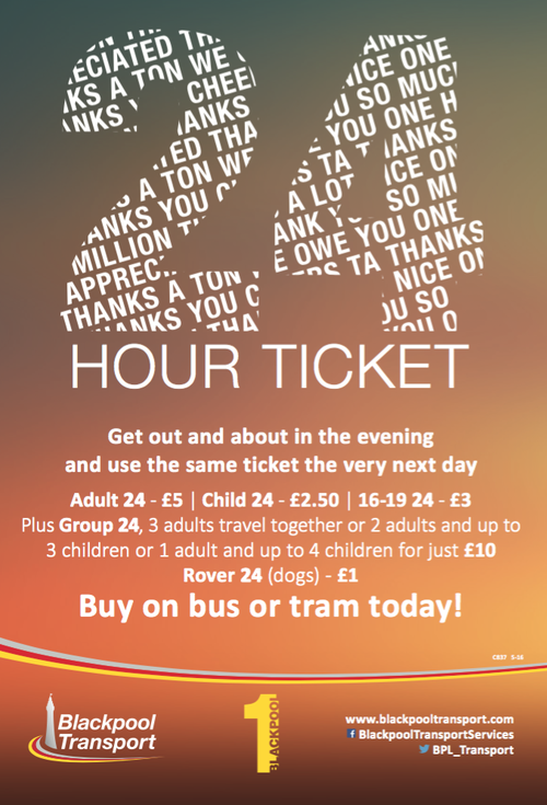 Blackpool Transport Sandgrown Offer