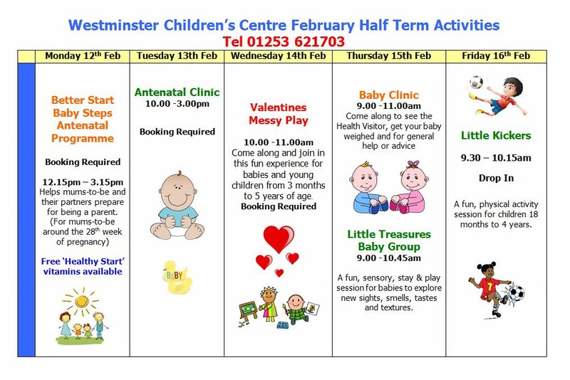 Westminster Children's Centre Half Term TT 2018